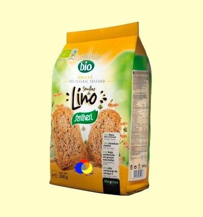 Pan Grille Bio con Semillas de Lino - Santiveri - 240 gramos