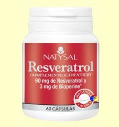 Resveratrol - Natysal - 60 cápsulas