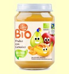 Potito de Frutas con Cereales Bio - Mi Menú - 200 gramos