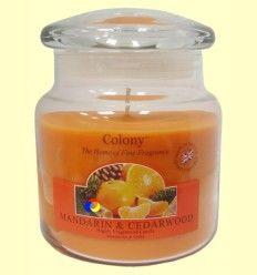 Vela Tarro con aroma Mandarin & Cedarwood - Colony - 1 unidad