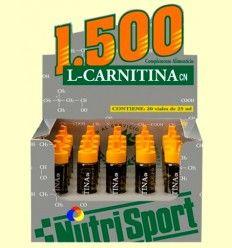 L-Carnitina 1500 - Sabor Naranja - NutriSport - 20 viales