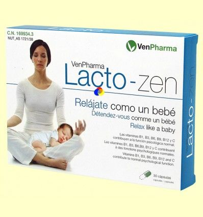 Lacto-Zen - Relájate como un bebé - VenPharma - 30 cápsulas *