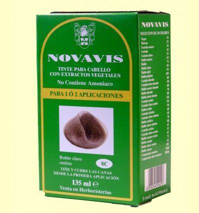 Tinte de Cabello - Rubio Claro Ceniza - Novavis - 135 ml