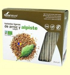 Tostadas ligeras Bio de Arroz integral y Alpiste - Soria Natural - 100 gramos