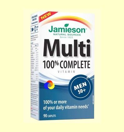 Multi 100% Complete Men +50 - Suplemento Vitamínico - Jamieson - 90 cápsulas