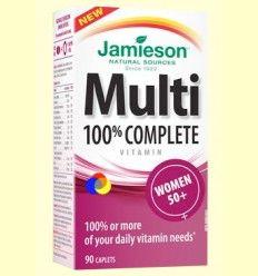 Multi 100% Complete Women +50 - Suplemento Vitamínico - Jamieson - 90 cápsulas *