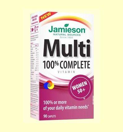 Multi 100% Complete Women +50 - Suplemento Vitamínico - Jamieson - 90 cápsulas