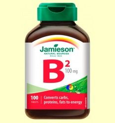 Vitamina B2 (Riboflavina) 100 mg - Jamieson - 100 comprimidos