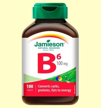 Vitamina B6 (Piridoxina) 100 mg - Jamieson - 100 comprimidos
