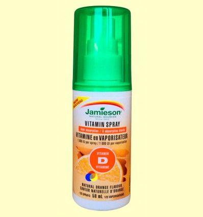 Vitamina D3 25 mcg Spray - Jamieson - 58 ml