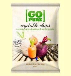 Chips de Vegetales Saladas Bio - GoPure - 90 gramos