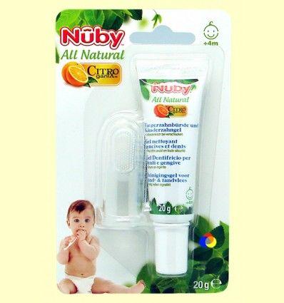 Pasta de Dientes para Bebés + Masajeador - Nuby - 20 gramos