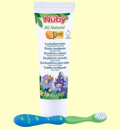 Pasta de Dientes para Niños Sabor Tutti Frutti + Cepillo Dental - Nuby - 45 gramos