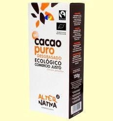 Cacao Puro Bio Desgrasado - Alter Nativa 3 - 150 gramos