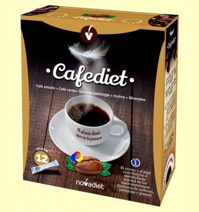 Cafediet - Café soluble - Control del peso - Novadiet - 12 sticks