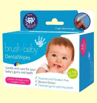 Toallitas Xylitol Infantil - Brush-baby - 28 toallitas
