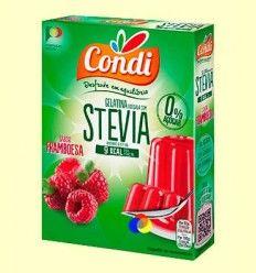Gelatina Edulcorada con Stevia sabor Fresa - Condi - 30 gramos