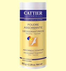 Polvos Absorbentes Desodorantes para Pies - Cattier - 65 gramos