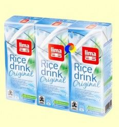 Bebida de Arroz Original Bio - Lima - 3x200 ml
