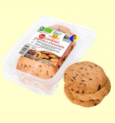 Cookies de espelta y chocolate bio - Vegetalia - 140 gramos