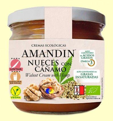 Crema Ecológica de Nueces y Cáñamo Sin gluten - Amandin - 330 gramos