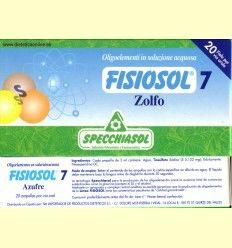 Fisiosol 7 Azufre (Zolfo) - Specchiasol - 20 ampollas
