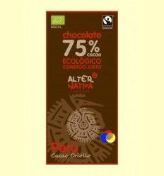 Chocolate 75 % Cacao de Perú Bio - AlterNativa3 - 80 gramos
