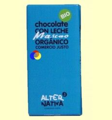 Chocolate con Leche Mascao Bio - AlterNativa3 - 100 gramos