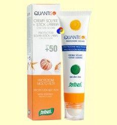 Crema Solar + Stick Muy Alta SPF 50 - Quantisol - Santiveri - 30 ml + 5 ml
