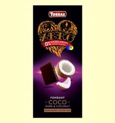 Chocolate Negro Zero Fondant Coco- Torras - 125 gramos