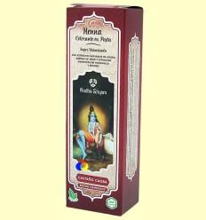 Henna Castaño Caoba Pasta - Radhe Shyam - 200 ml