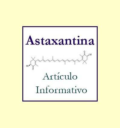 Información de la Astaxantina