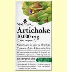 Artichoke 10.000 mg - Hepatoprotector - Natysal - 60 comprimidos