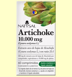 Artichoke - Alcachofa 10.000 mg - Hepatoprotector - Natysal - 60 comprimidos *
