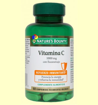 Vitamina C 1000 mg con Escaramujo - Nature's Bounty - 60 comprimidos