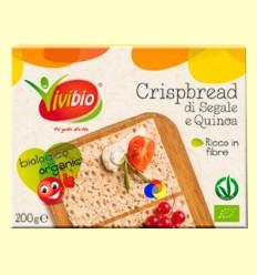 Pan crujiente de centeno integral y quinoa Bio - Vivibio - 200 gramos
