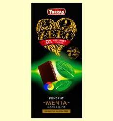 Chocolate Negro con Menta Zero - Torras - 100 gramos