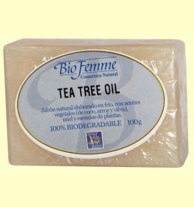 Jabón de tea tree oil - Bio Femme - Ynsadiet - 100 gramos