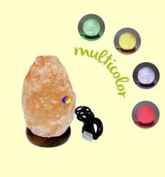 Lámpara de Sal Multicolor con USB