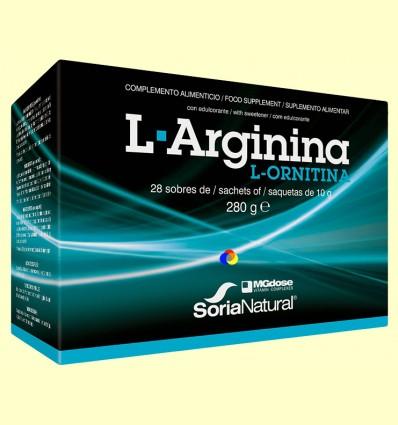 L-Arginina L-Ornitina - MGdose - 28 sobres *