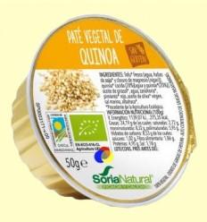Paté Vegetal de Quinoa Bio - Soria Natural - 50 gramos