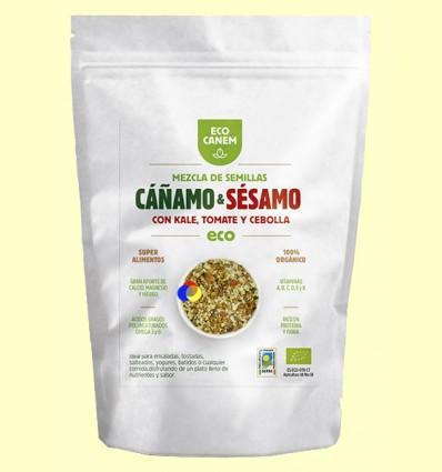 Mezcla de Semillas de Cáñamo y Sésamo con Kale, Cebolla y Tomate Eco - Eco Canem - 200 gramos