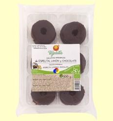 Galletas Integrales de Espelta, Limón y Chocolate Bio - Vegetalia - 200 gramos