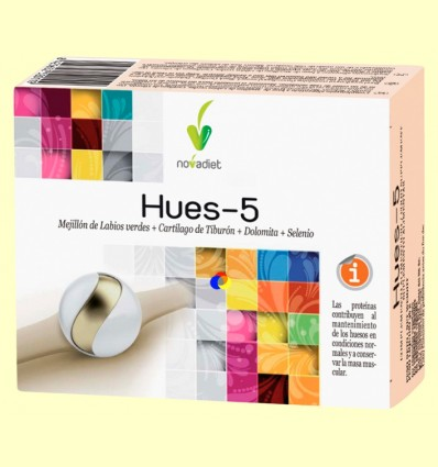 Hues-5 - Huesos y Articulaciones - Novadiet - 60 cápsulas