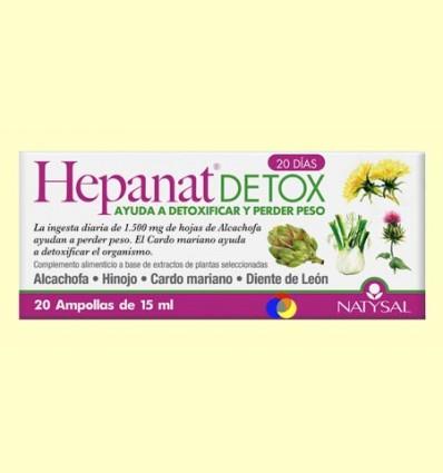 Hepanat Detox - Control de Peso - Natysal - 20 ampollas