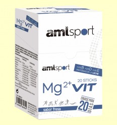 MG2 + Vit - Sabor Fresa - amlsport - 20 sticks