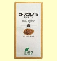 Cocolate Negro con Sal de Mostaza ECO - Herbes de la Conca - 100 gramos