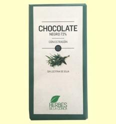 Chocolate Negro con Estragón ECO - Herbes de la Conca - 100 gramos