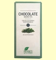 Chocolate Negro con Hierbas Mediterráneas ECO - Herbes de la Conca - 100 gramos