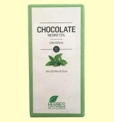 Chocolate Negro con Menta ECO - Herbes de la Conca - 100 gramos